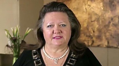In her new role on in the Brazzers-owned ABC, Gina Rinehart sports a recently acquired pearl necklace.
