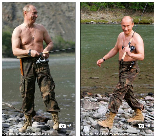 Putin goes fishing for gays.